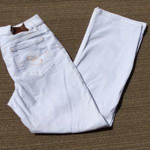 White Escada Jeans Size 38 Vintage